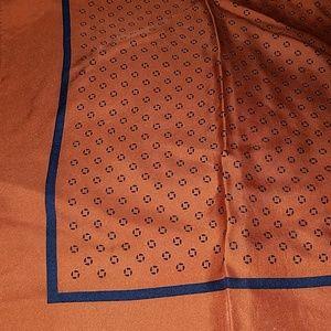 Chase bank apparel orange navy blue square scarf